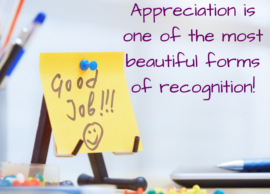 Appreciation is the key to success